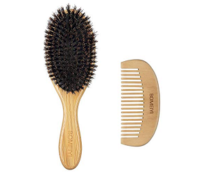 BOMEIYI 100% Boar Bristle Hair Brush Set